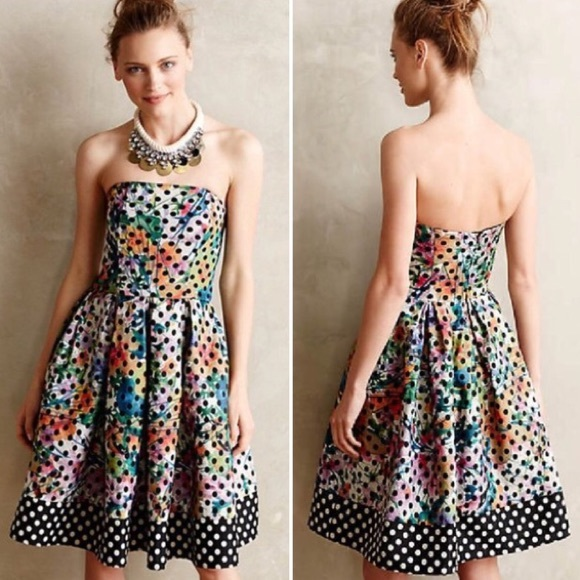 02e915df2ebd Anthropologie Dresses & Skirts - Corey Lynn Calter Lavendel Polka Dot  Floral Dress